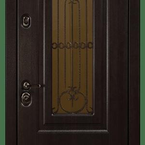 Дверь со стеклом и ковкой DR238