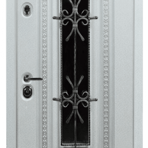 Дверь со стеклом и ковкой DR240